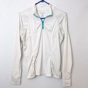 ATHLETA Fastest Track Quarter Zip Pullover Jacket